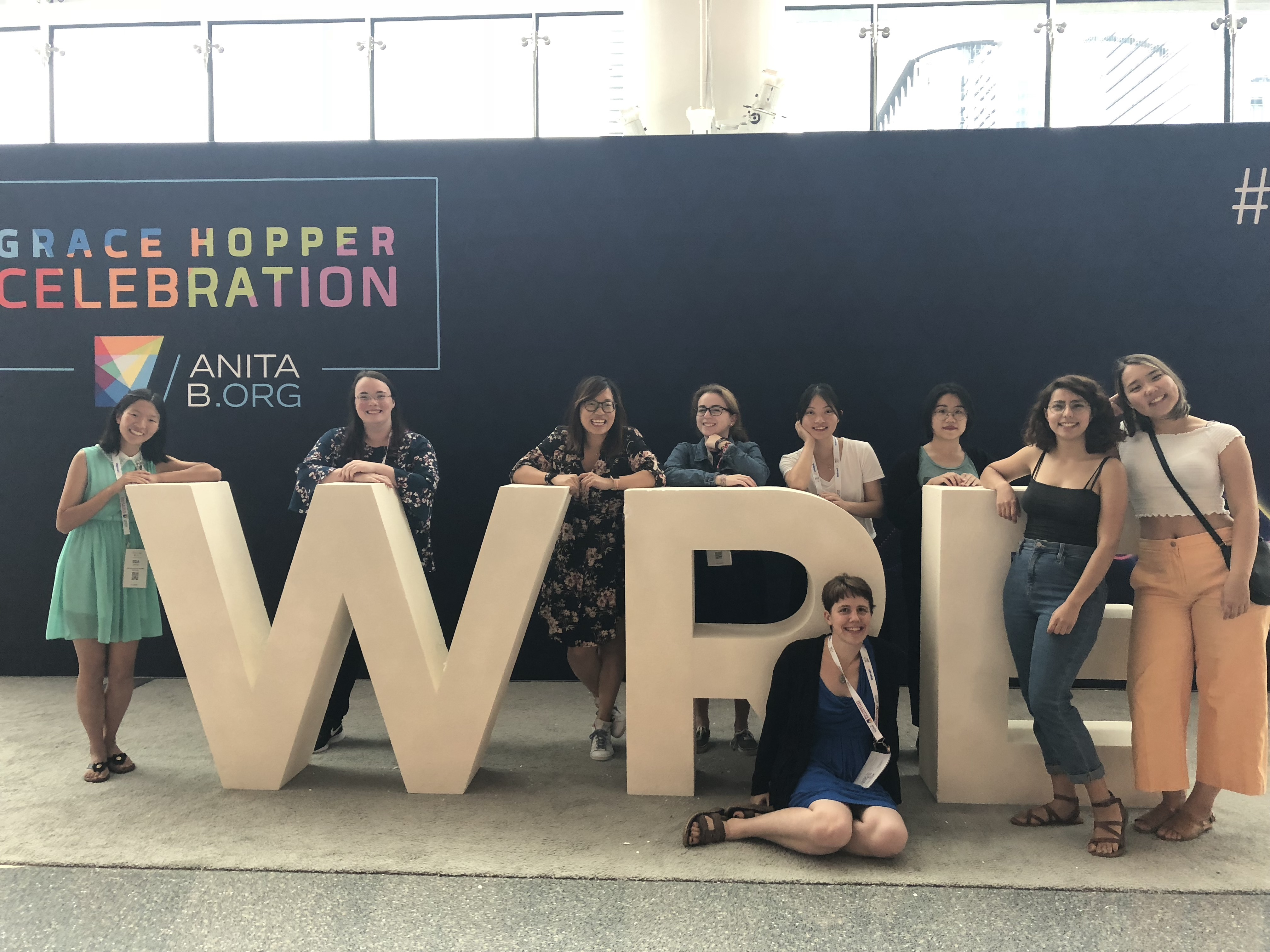 WPI students at Grace Hopper