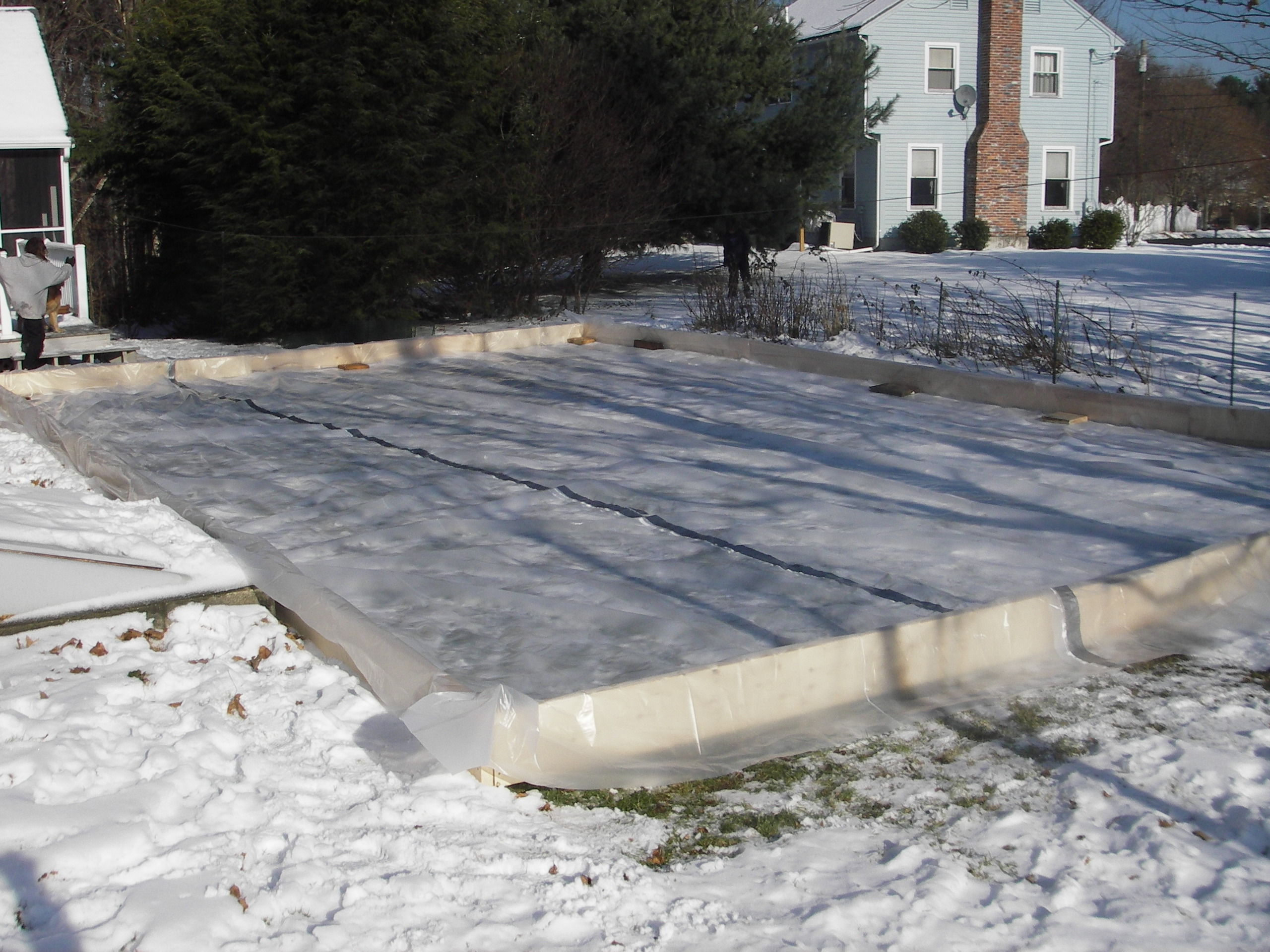 Backyard Ice Rink Liner Claypool  ice rink